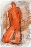 Goddess    (charcoal, crayon, pastel)