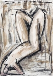 Lying Down III   (charcoal, compressed charcoal, pastel)