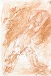Posing II   (pastel, crayon)