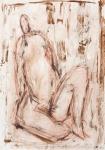 Sitting Woman II   (pastel, pencil, charcoal)