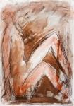 Sitting Woman   (pastel, charcoal, pencil)