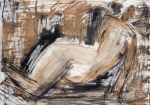 Repose II   (pastel, charcoal, compressed charcoal)