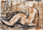 Repose I   (charcoal, compressed charcoal, pastel)