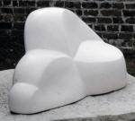 Reclining Figure     (Portland stone  28x52x40cm)